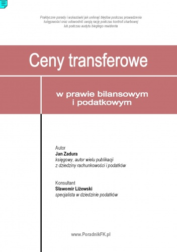 Jan Zadura - Ceny transferowe w prawie bilansowym i podatkowym - e-book