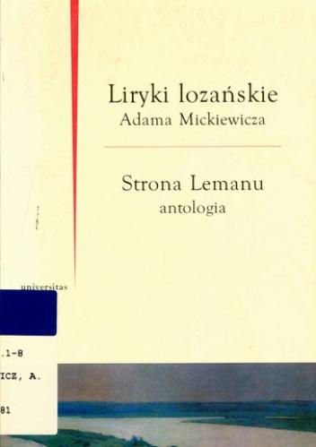 Adam Mickiewicz - Liryki lozańskie